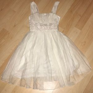 My Michelle White Tulle Dress with Beading